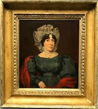 Old Master Portrait of a Lady Wearing a Lace Bonnet 18th C. Oil Painting NO RES.