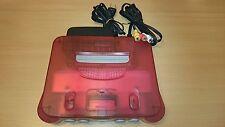 Console Nintendo 64 CLEAR RED WHITE import JAP bon état n64 retro arcade