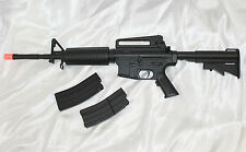 Well D94S M16 M4A1 Electric Airsoft Rifle/Gun - Full/Semi Auto AEG + Extras  NEW
