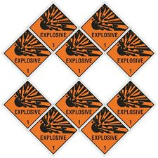 "10x EXPLOSIVE Explosion stickers each=25x25mm 1x1"" warning tablet cell phone pc"