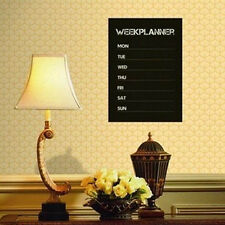 Weekly Planner Calendar MEMO Chalkboard Blackboard Vinyl Wall Sticker DIY Week