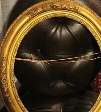 Fabulous wood Antique Oval and very Ornate Gilded Frame about 1820 - 1880 time
