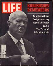 Life Magazine November 27 1970 Birthday Terror of Stalin w/ML VG 060116DBE
