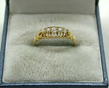 Lovely Antique 18ct Gold Five Stone Diamond Gypsy Ring