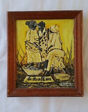 Africa African Oil Painting Original Women Tribal in the Market Signed