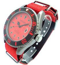 KAHUNA MENS RED NYLON STRAP WATCH WITH DATE DISPLAY - KUS0114G