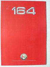 Prospekt Alfa Romeo 164 Twin Spark, 3.0 V6, 5.1988, 8 Seiten, folder