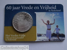 Netherlands Het Vredes vijfje 5 euro 2005 FDC in Coincard ,  Rare
