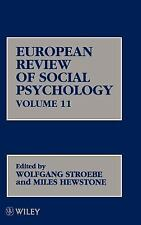 European Review of Social Psychology, European Review of Social Psychology V11 (