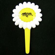 15 Mom Cupcake Picks Yellow Daisy Flower Happy Mother's Day Cake Toppers (Many)