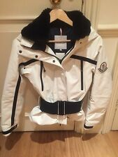 MONCLER LADIES DOWN FILLED SKI JACKET REAL FUR NECKLINE SIZE XS