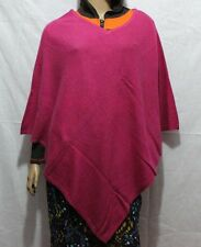 100% Cashmere Poncho - Colour 'Pink' Pashmina Poncho - Hand Made in Nepal
