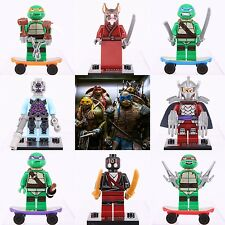 Hot 8 Pcs 2016 Set Super Hero Teenage Mutant Ninja Turtle fits Lego minifigure