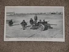 RPPC  Fort Dix, N.J., 37-Millimeter Anti-Tank Gun in Action, unused, WW2