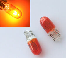 1x T10 501 W5W 5W Halogen Bulbs Dashboard Interior Wedge Side Light Amber/Yellow