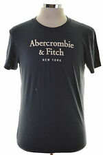Abercrombie & Fitch Mens T-Shirt Top Large Navy Blue Cotton Slim Fit