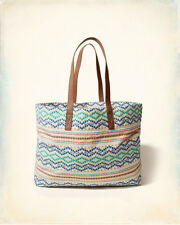NWT Hollister Jacquard Tote bag White Pattern