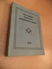 OLD VINTAGE ANTIQUE MASONIC MASONS REFERENCE BOOK 1970S 1978 WILTSHIRE