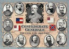 Confederate Generals, Robert E. Lee, Jackson, etc. - Military Civil War Postcard