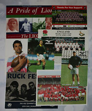 A COLLECTION of 8 PRINTED RUGBY CARDS - including NZ, Eden Park, England squad