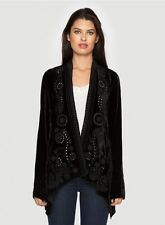 NWT Johnny Was JWLA VELVET WRAP Jacket 1X may fit 2X Women's Plus Size RELAXED