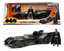 JADA METALS DC COMICS 1:24 1989 BATMOBILE & BATMAN FIGURE DIECAST CAR 98260