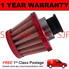 16mm MINI AIR OIL VENT VALVE BREATHER FILTER FITS MOST CARS RED CONE