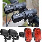 2X Mini Q5 LED Mount Bike Bicycle Zoomable Flashlight Front Head Light Torch AAA