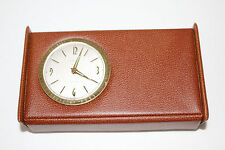 Vintage high-class...quality EUROPA Germany made travel clock case combo WORKS