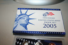 2005 US Coin Mint Proof Set,11 Coins,Dollar,Kennedy Half,COA,Gift,Free Ship99999