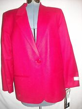 Sag Harbor ladies red 100% pure new wool blazer 8 petite New With Tags