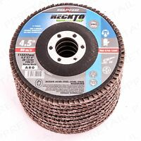 "10 x FLAP SANDING DISC Grit 80 Fits 4.5""/115mm Angle Grinding Wheel Metal/Wood"