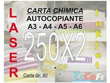 Carta CHIMICA autocopiante A6 250x2 * CB CF * carbone ddt ricevute stampa