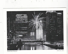"""*Postcard-""""The Fireworks Display"""" -Magnificent Mile Festival- *Chicago, IL (#127"""