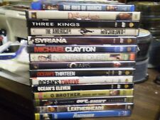 (15) George Clooney DVD Lot: 3 Kings  Syriana  Peacemaker  Leatherheads  Solaris