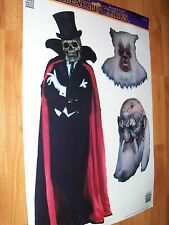Vintage Paper Magic 3 pc Creature Clings Halloween Window Decoration  NOS