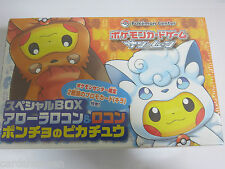 Box Coffret Carte Pokemon Center Pikachu Cosplay Goupix D'alola Neuve Jap