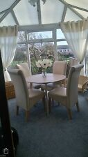 """Cream Ring Top Voiles Fully Lined Complete With Tie Backs Curtains 90x72"""""""