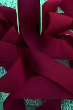 """100% PURE SILK RIBBON ~RUBY-RED  5  YDS 1"""" [25MM] WIDE"""