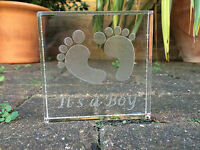 It's A Girl/Boy Baby Shower Decor Sign with an Engraved Personalised Gifts