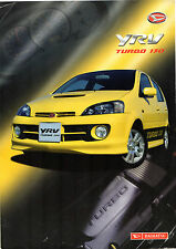 Daihatsu YRV Turbo 130 2003-04 UK Market Foldout Sales Brochure