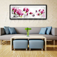 5D DIY FLOWER BUTTERFLY CROSS STITCH KIT EMBROIDERY DIAMOND PAINTING HOME DECOR
