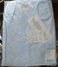 NWT Sweet Baby Blue Floral Cotton Blend Lady Lindsay Short Sleeve Pajamas Sz 1X