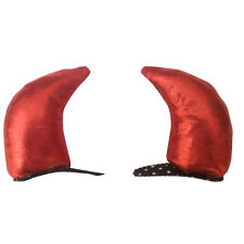 Sexy Devil Horn Soft Hair Clip Fancy Dress Ladies Halloween Party Costume Red UK