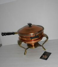 5-piece Chaffing Dish Coppercraft Guild Chaffing Dish Vintage Copper and Brass