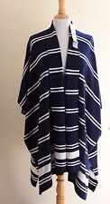 NWT Ralph Lauren Navy Silk Cashmere Indian Blanket Art-to-Wear Sweater Sz M $295