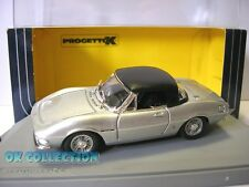 Progetto K 1:43_ FIAT DINO SPYDER 2400 HARD TOP colore argento (scatola PK163B)
