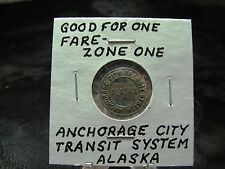 Good for One Fare - Token  Zone One  Anchorage City Transit System  Alaska
