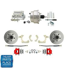 "1955-58 GM Full Size Disc Brakes W/ 8"" Dual Chrome Booster Conversion Kit 308R"
