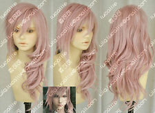 Final Fantasy 13 Lightning serah New Long Pink / purple Cosplay Wigs 55cm